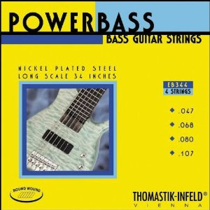 Thomastik EB344 Medium-Light Power Bass Roundwound 4-String Bass Strings